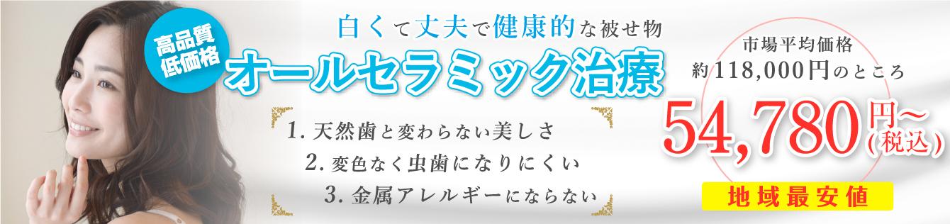 ジルコニアセラミック 4.98万円〜